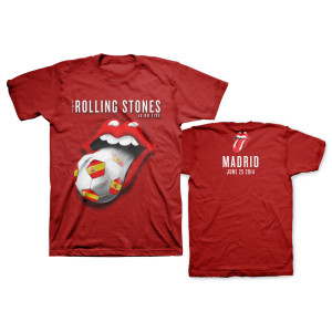 Rolling Stones Madrid Soccer T-Shirt