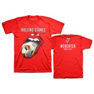 Rolling Stones Belgium Soccer Tongue T-Shirt