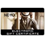 Ne-Yo Electronic Gift Certificate