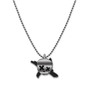 Green Day Skull X Necklace