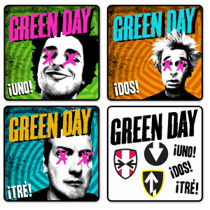 Green Day Uno! Dos! Tre! Coaster Set