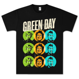 Green Day On The Dot T-Shirt - Black