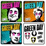 Green Day Uno! Dos! Tre! Coaster Set