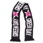 Green Day Skull Logo Woven Scarf
