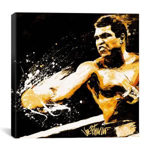 """Muhammad Ali - Fury By Joe Petruccio Canvas Print 18"""" x 18"""""""