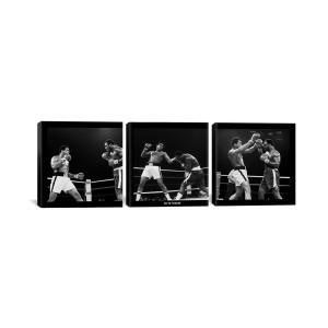 "Muhammad Ali - Thrilla in Manila Black Canvas 3 pc. Print 48"" x 16"""