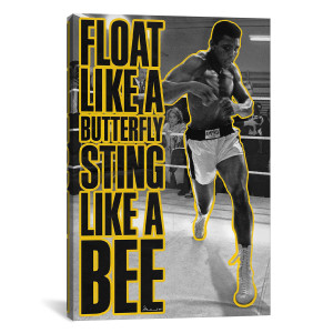 "Ali Float Like a Butterfly Canvas Print 26"" x 18"""