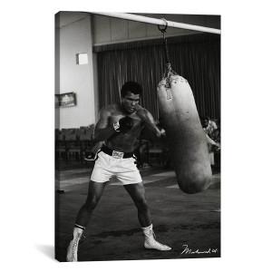 """Ali Training in Zaire Canvas Print 40"""" x 26"""""""