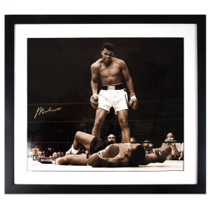Ali Autographs - Ali Over Liston Print