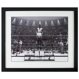 Ali Autographs - 1960 Olympics Gold Medal Stand Print