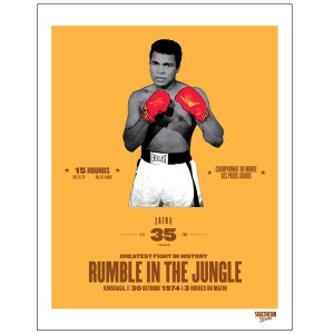 Ali 35th Anniversary Rumble in the Jungle Limited Edition Poster