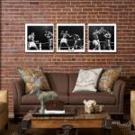 """Muhammad Ali -Thrilla in Manila White Canvas 3 pc. Print 48"""" x 16"""""""