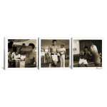 """Ali Training in Action 3 pc. Canvas Print 16"""" x 48"""""""