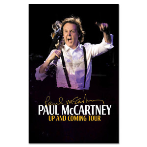 Paul McCartney Up and Coming Poster