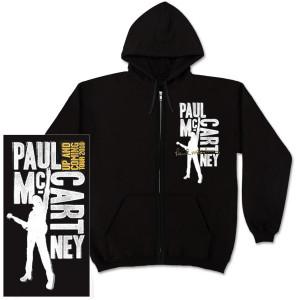 Paul McCartney Type Blocks Black Zip Hoodie