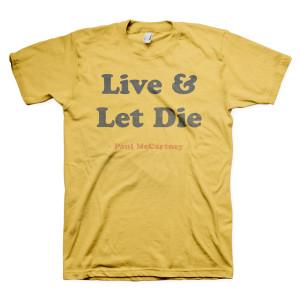 Paul McCartney Live & Let Die Tee