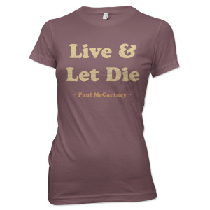 Paul McCartney Live and Let Die Juniors Tee