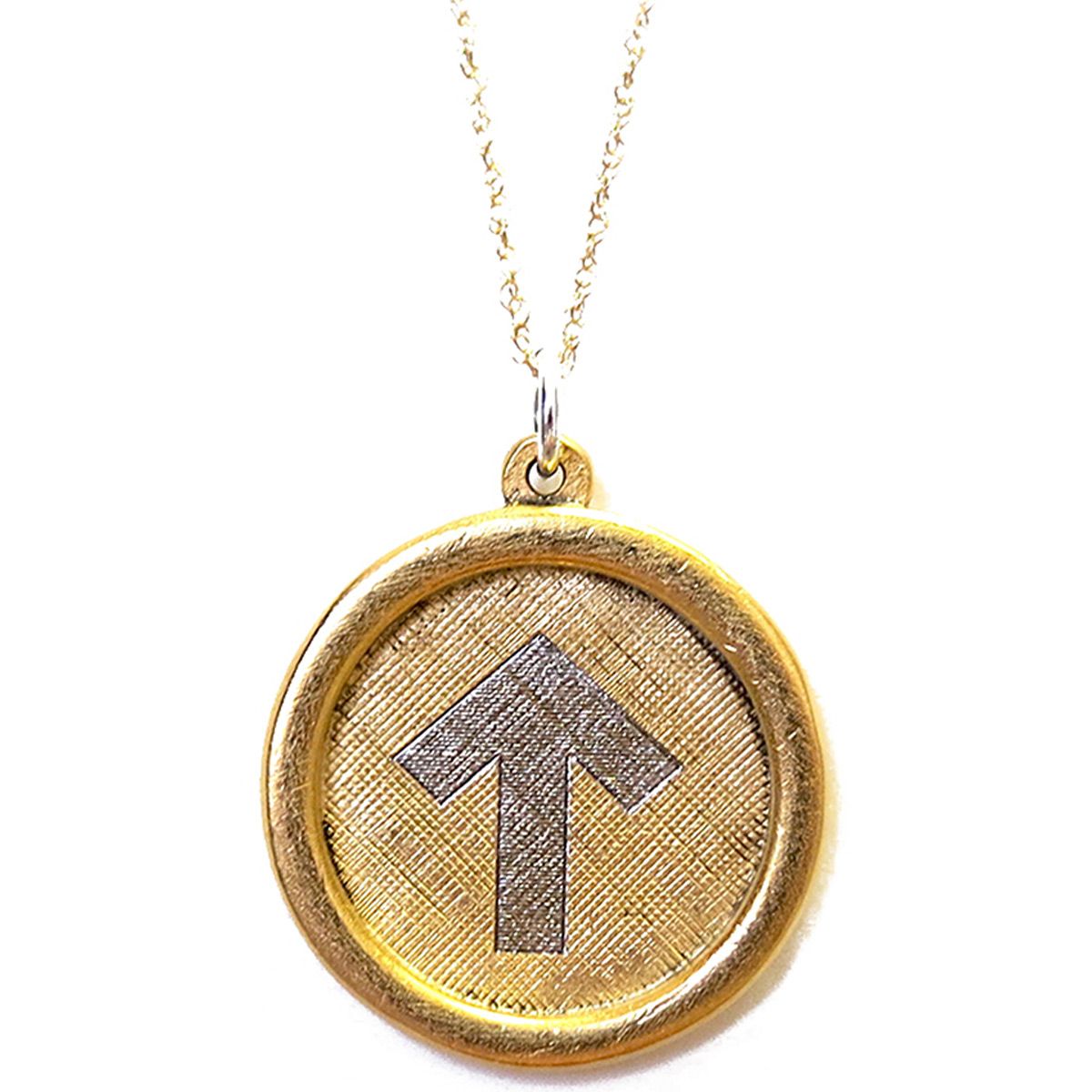 Golden Thread Circle of Strength Pendant Necklace, Gold