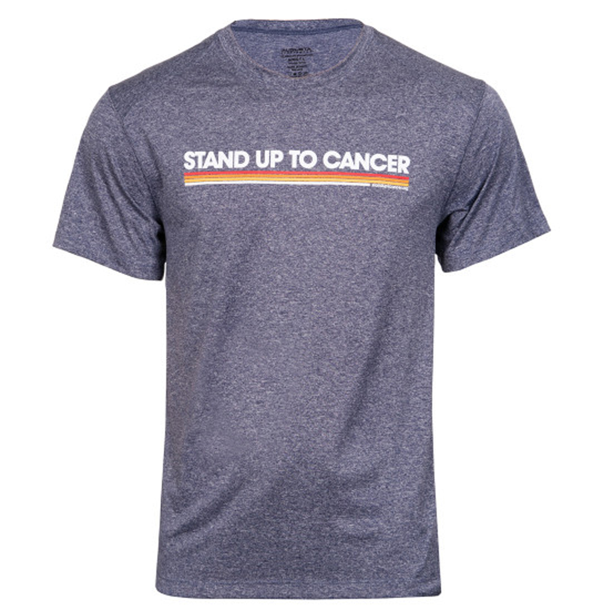 SU2C Men's Long Logo Color Stripes Training T-Shirt
