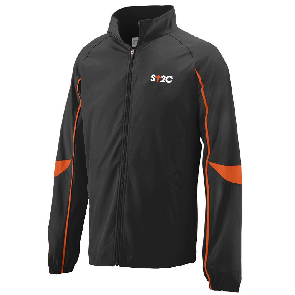 SU2C Men's Quantum Zip Short Logo Athletic Jacket