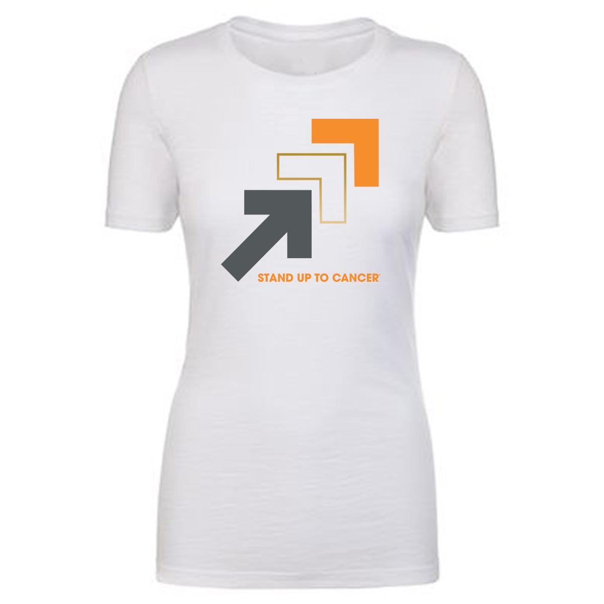 SU2C Women's Triple Arrow Slub Crew T-Shirt, White
