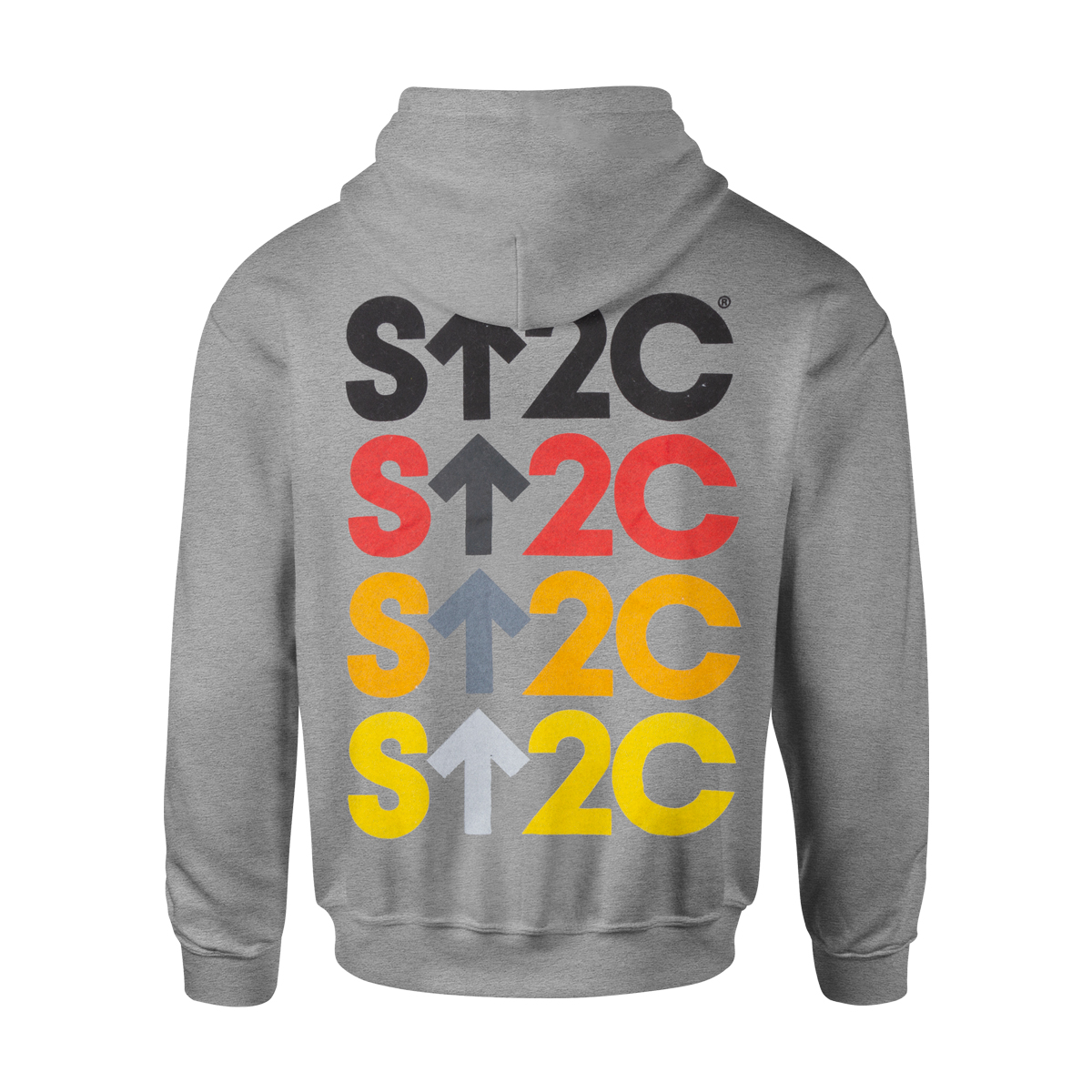 SU2C Men's Full Logo Zip Up Hoodie