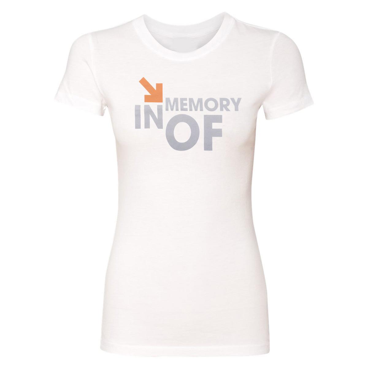 SU2C In Memory Of Women's White T-Shirt