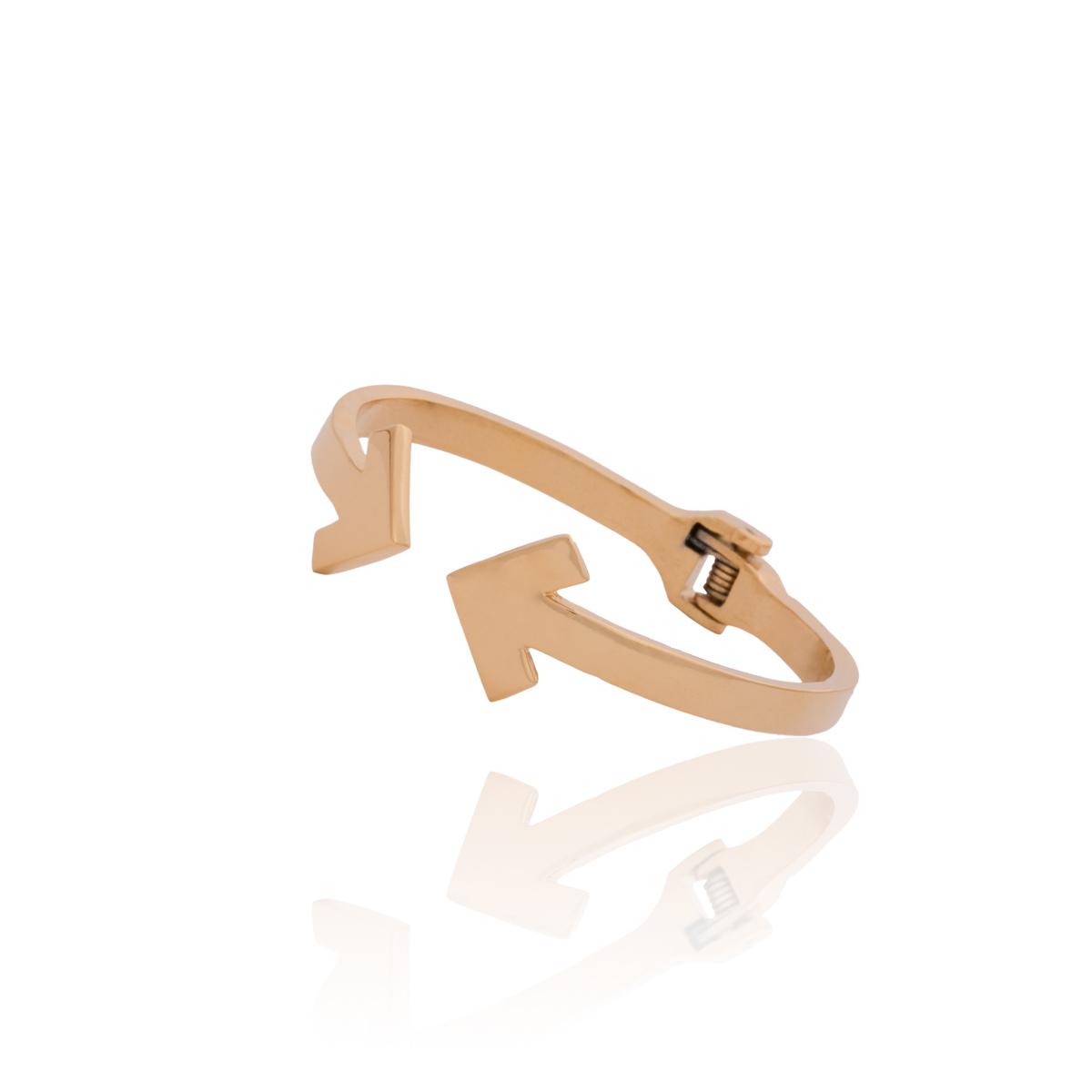 SU2C Devon Leigh Gold Plated Arrow Bangle