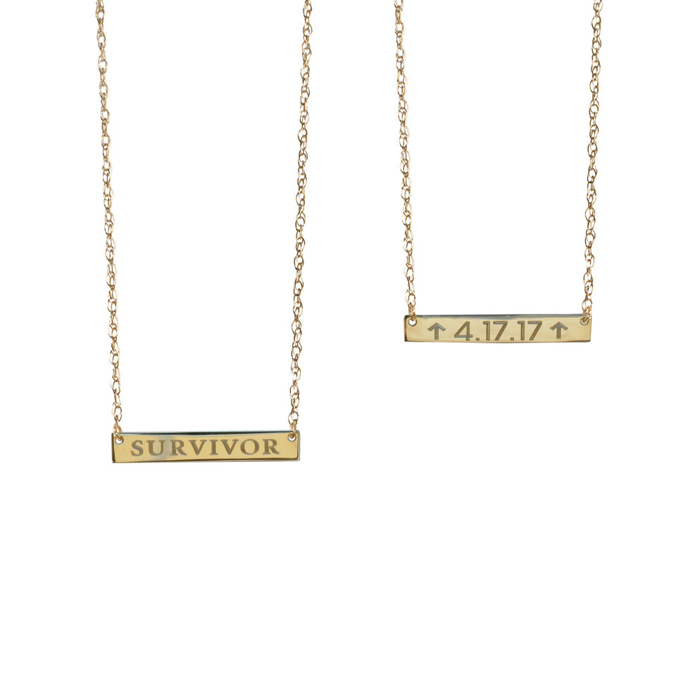 Survivor's Badge 14-Karat Gold Personalized Necklace