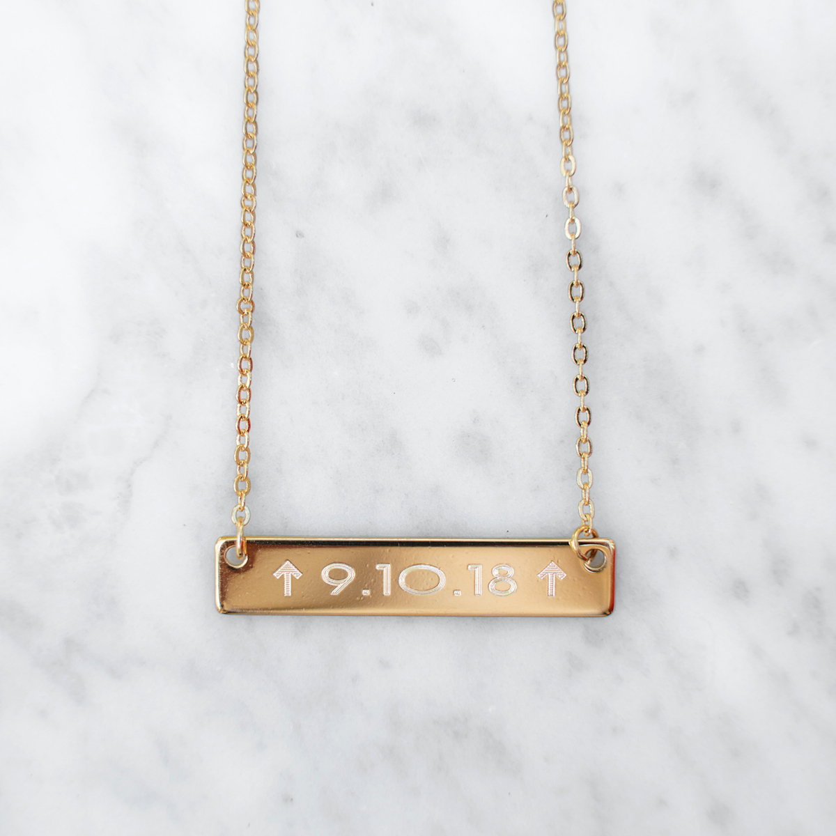 Golden Thread In the Fight Bar Personalized Necklace