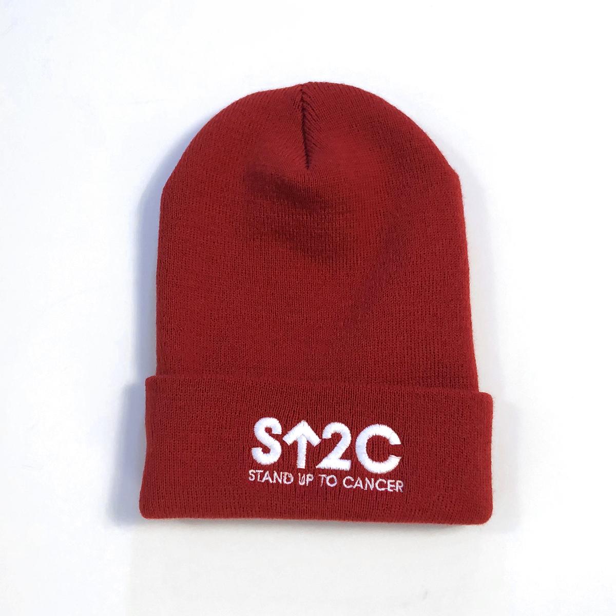 SU2C Short Logo Beanie (Red)