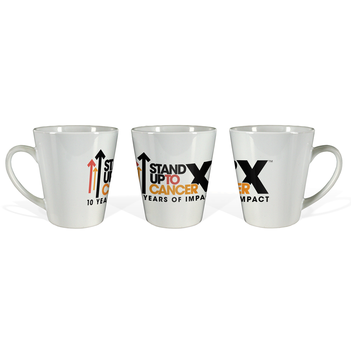 SU2C 10th Year Logo Latte Mug