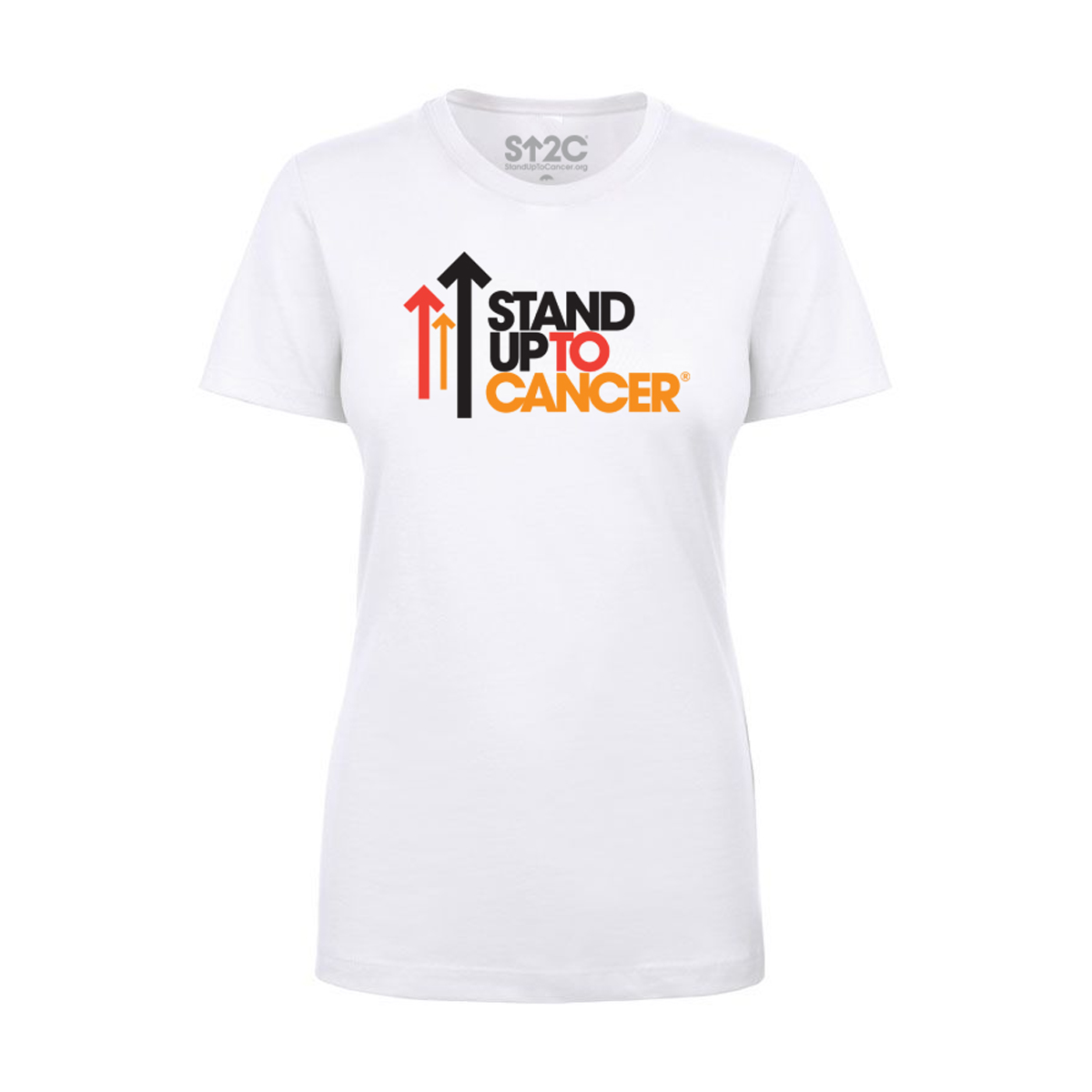 SU2C Women's Full Logo T-Shirt, White