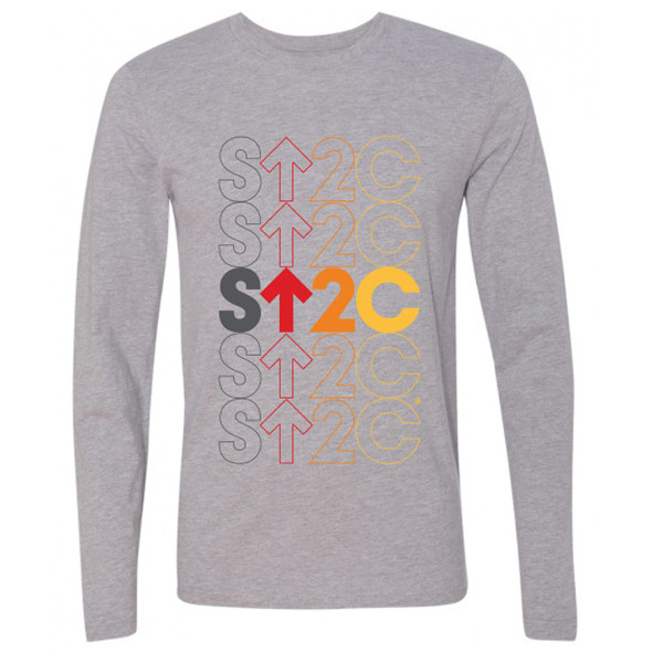 SU2C Short Repeated Stack Long Sleeve T-Shirt, Grey
