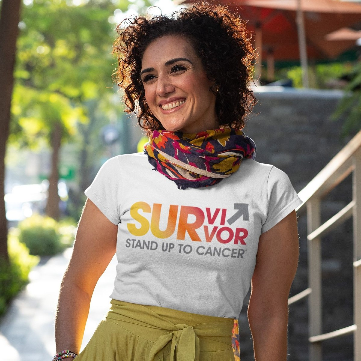 SU2C Survivor Sunrise Women's Relaxed Jersey T-shirt