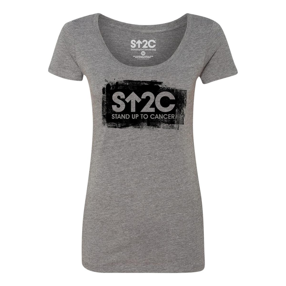 SU2C Short Logo Painted Women's Scoop T-shirt