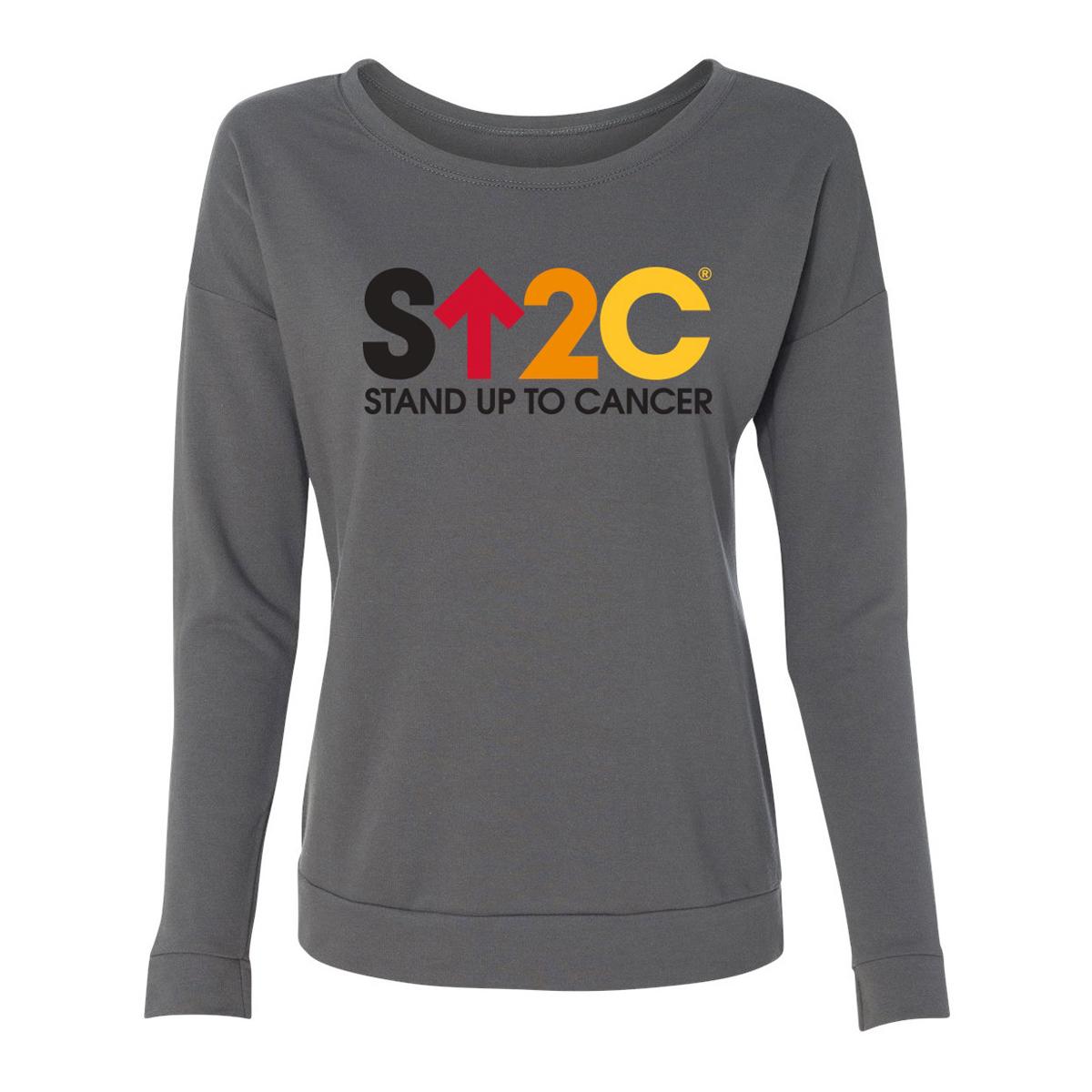 SU2C Short Logo Women's Terry L/S Scoop T-shirt