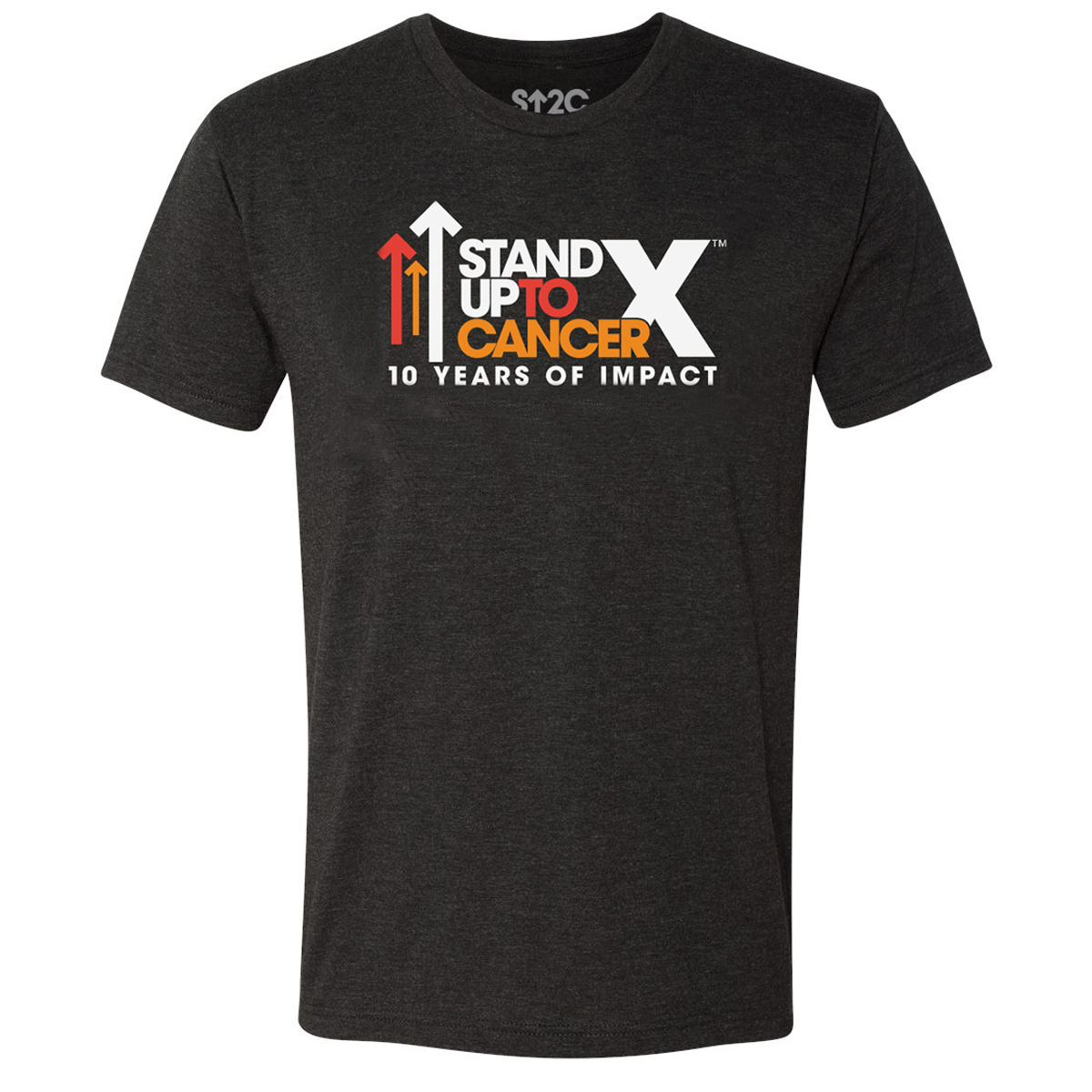 SU2C 10th Year Logo Triblend T-Shirt, Vintage Black