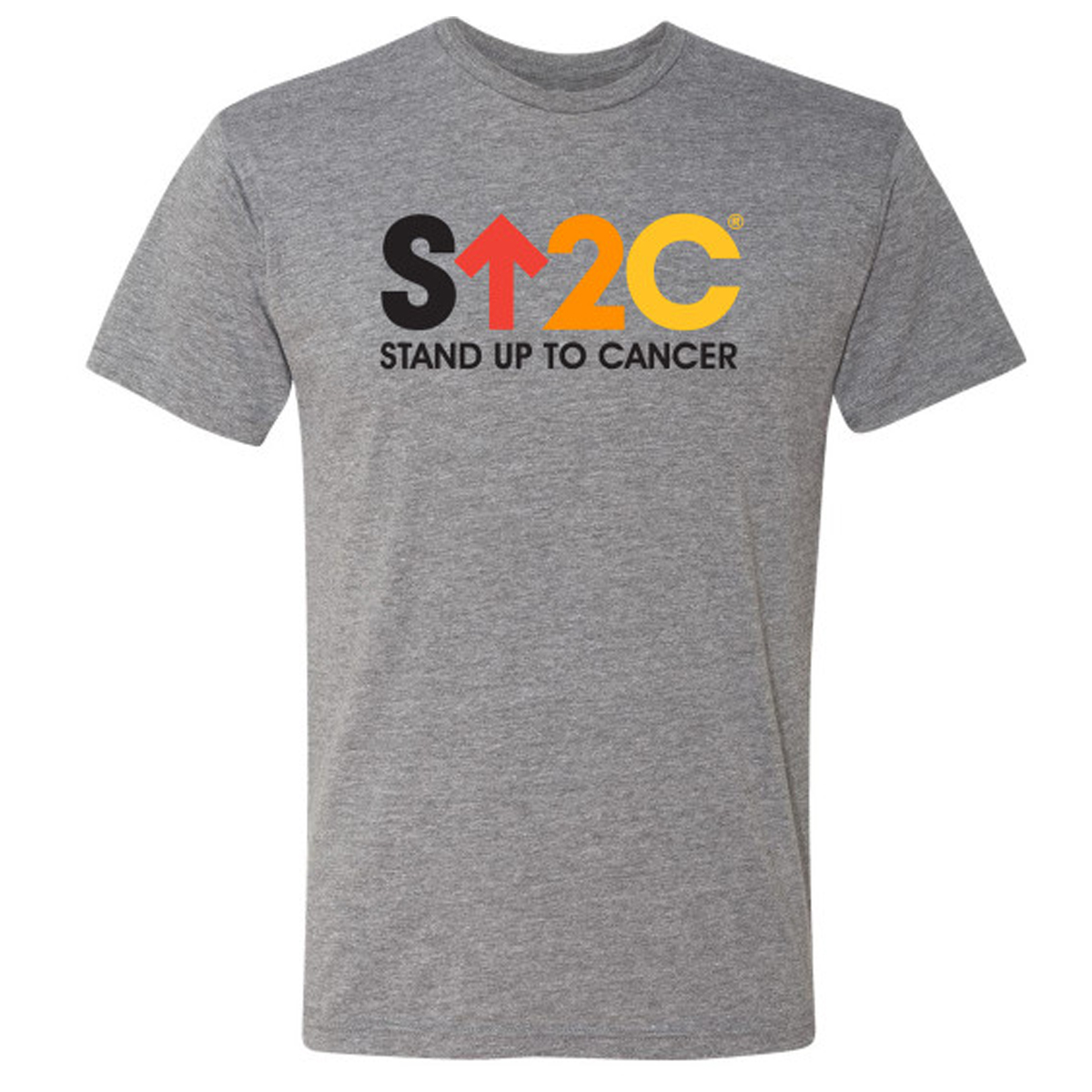 SU2C Short Logo TriBlend T-Shirt, Heather Grey