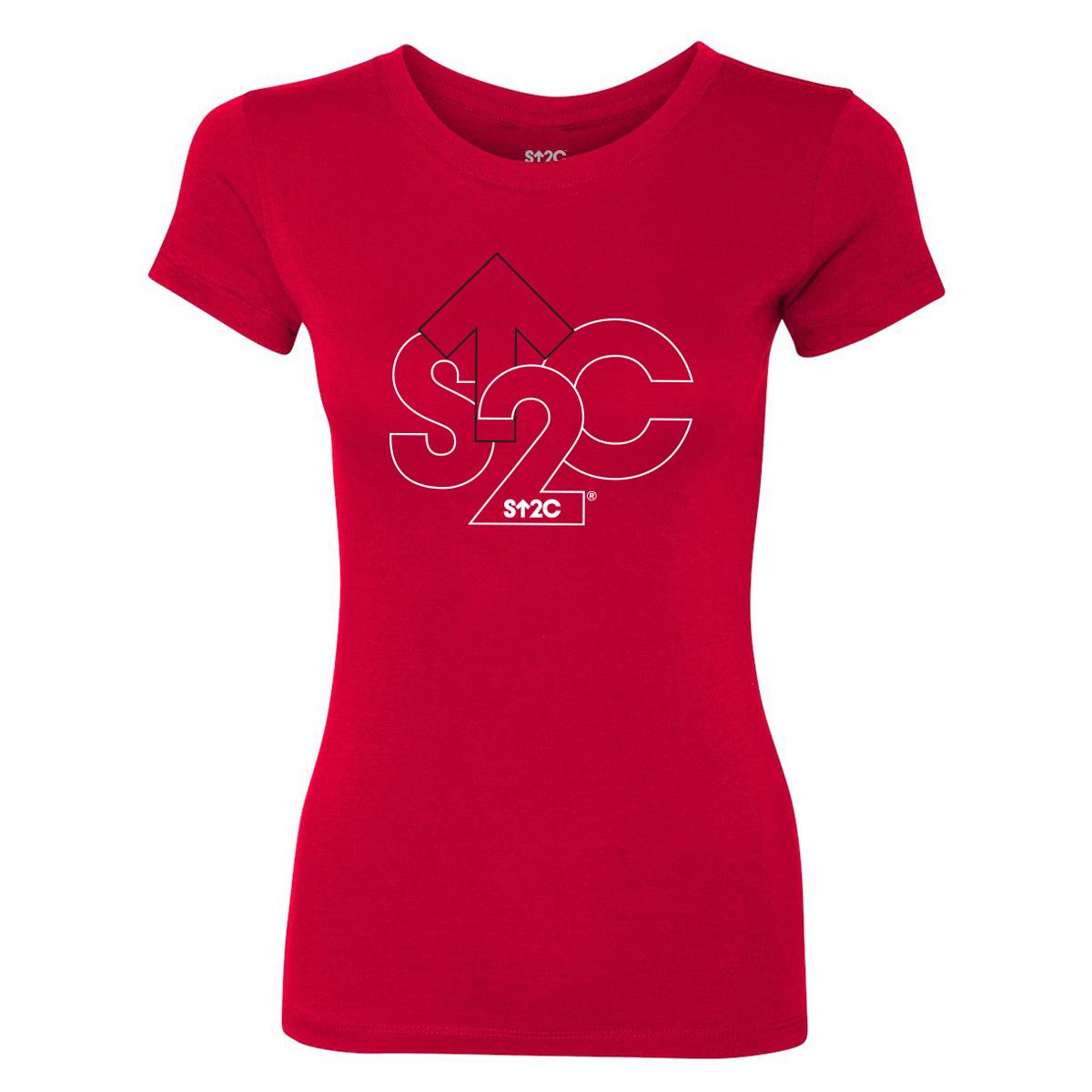 SU2C Outline Logo Women's T-Shirt (Red)