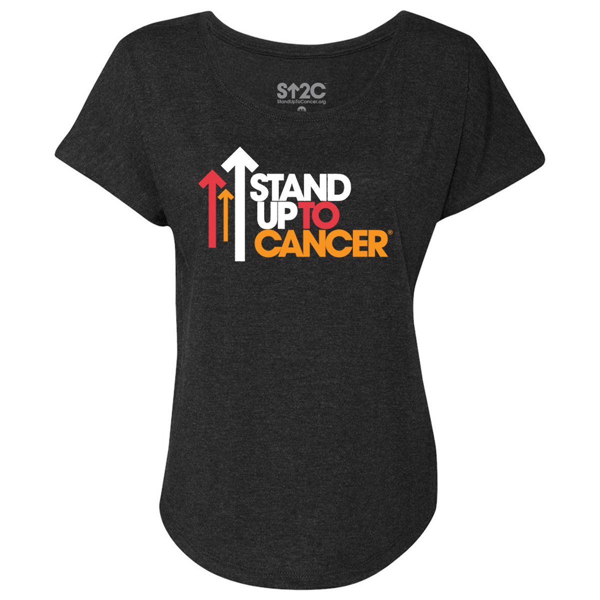 SU2C Full Logo Women's Dolman T-Shirt (Vintage Black)