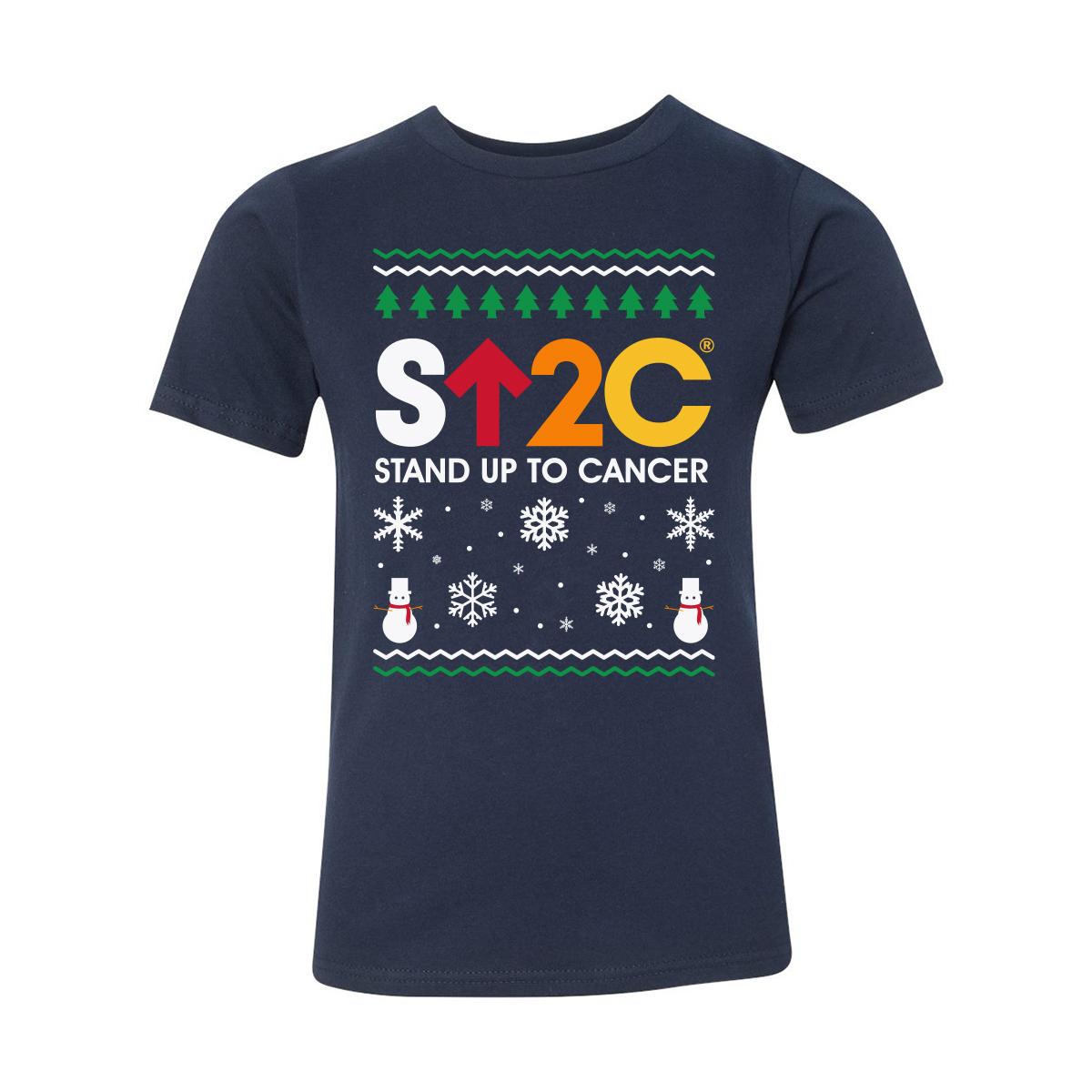 SU2C Short Logo Holiday Youth T-Shirt (Navy)