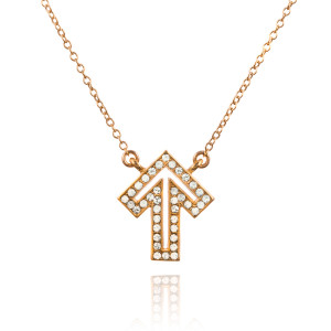 Golden Thread Delicate Strength Crystal Necklace
