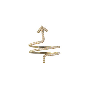 Golden Thread My Journey Ring, 14k Gold & Full Diamonds