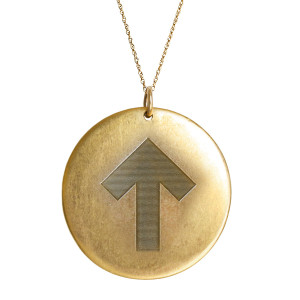 Golden Thread Stand Up Strong Pendant Necklace, Gold