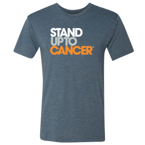 SU2C Men's Full Logo Triblend T-Shirt, Indigo