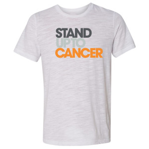 SU2C Men's Full Logo Slub T-Shirt, White