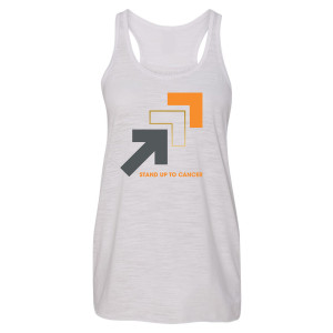 SU2C Women's Triple Arrows Logo Performance Racerback Tank, White