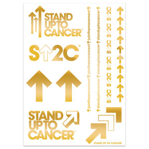SU2C Flash Tattoos 5x7, 2-pack