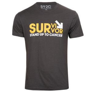 SU2C Survivor Men's New Logo T-Shirt, Grey